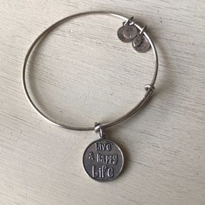 "Alex and Ani ""Live a Happy Life"" silver bracelet"